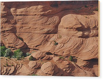 Canyon De Chelly - A Fascinating Geologic Story Wood Print by Christine Till