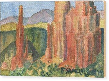Canyon De Chelly Fantasy Wood Print