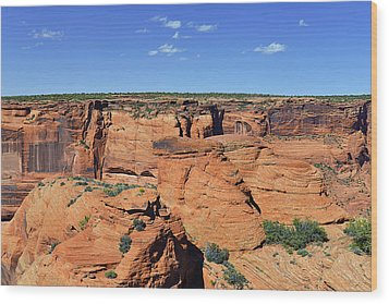 Canyon De Chelly From Sliding House Overlook Wood Print by Christine Till