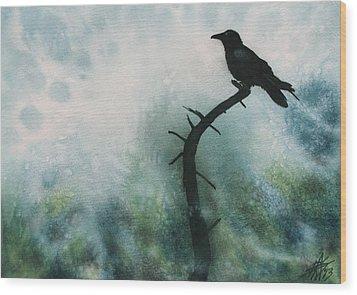 Canyon Denizen Or Torrey Pine Remains With Raven Wood Print