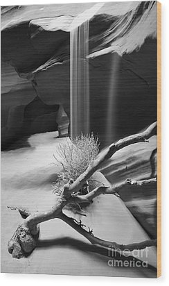 Wood Print featuring the photograph Canyon Sandfall by Bryan Keil