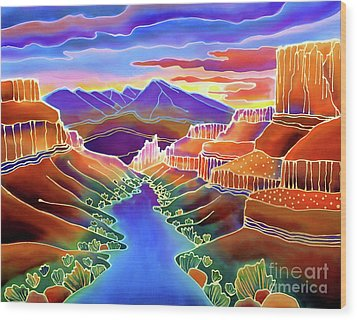Canyon Sunrise Wood Print