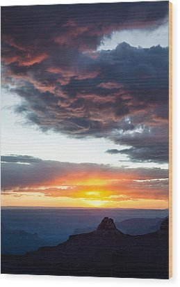 Canyon Sunset Wood Print by Dave Bowman