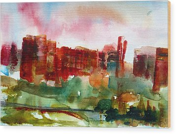 Wood Print featuring the painting Canyonlands 03 by Anne Duke