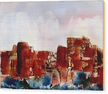 Wood Print featuring the painting Canyonlands by Anne Duke
