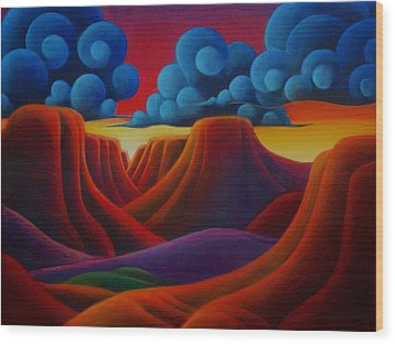 Canyonlands Wood Print by Richard Dennis