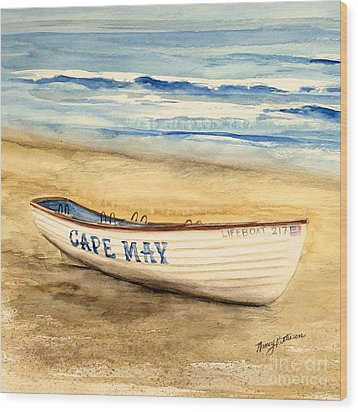 Cape May Lifeguard Boat - 2 Wood Print