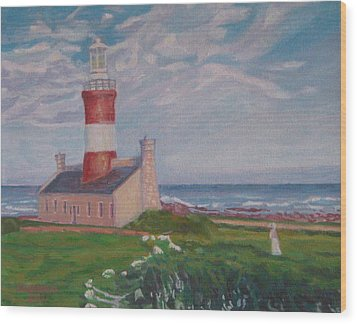 Cape Aghulas Lighthouse Wood Print