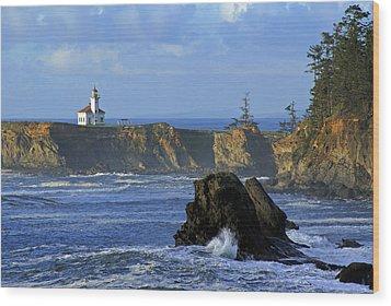 Cape Arago Lighthouse Wood Print