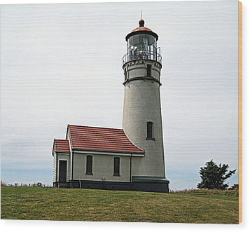 Cape Blanco Lighthouse Wood Print by AJ  Schibig