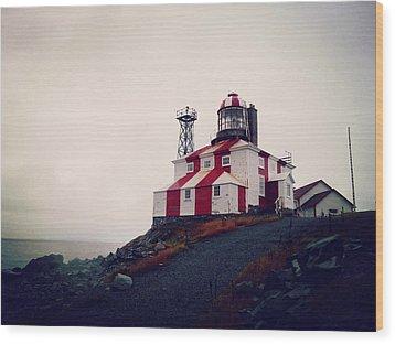 Cape Bonavista Lighthouse Wood Print by Zinvolle Art