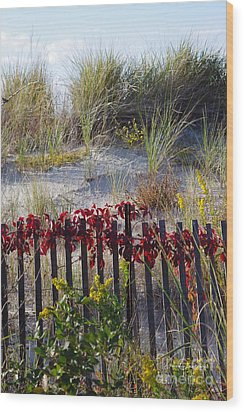 Cape Charles Autumn Wood Print by Tannis  Baldwin