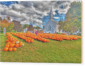 Cape Cod Americana   Fall Bounty On Cape Cod  Wood Print by Constantine Gregory