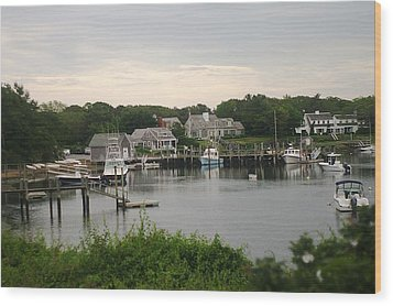 Wood Print featuring the photograph Cape Cod At Dusk by Suzanne Powers