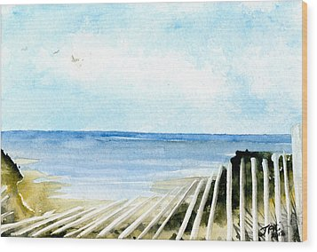 Cape Cod Bay Study #2 Wood Print by Jennifer  Creech