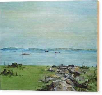 Cape Cod  Boats Wood Print