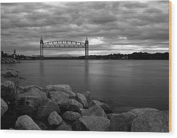 Wood Print featuring the photograph Cape Cod Canal Train Bridge by Amazing Jules