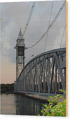 Cape Cod Canal Train Bridge Art Print Wood Print
