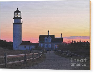 Cape Cod Light Wood Print by Catherine Reusch Daley