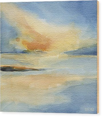 Cape Cod Sunset Seascape Painting Wood Print