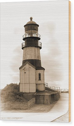 Cape Disappointment Lighthouse Wood Print by Cathy Anderson