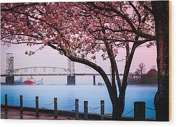 Cape Fear Of Wilmington Wood Print by Karen Wiles