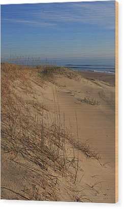 Cape Hatteras Dunes-outer Banks North Carolina Wood Print by Mountains to the Sea Photo