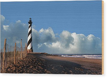 Cape Hatteras Lighthouse Nc Wood Print by Skip Willits