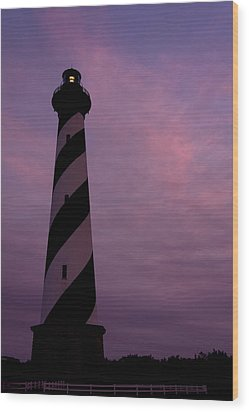 Cape Hatteras Lighthouse At Dusk Wood Print by Jim Baker