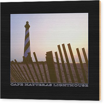 Cape Hatteras Lighthouse Wood Print by Mike McGlothlen