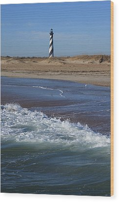 Cape Hatteras Lighthouse Nc Wood Print by Mountains to the Sea Photo