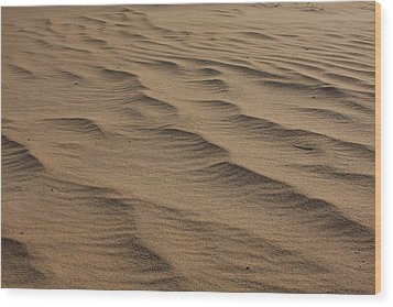 Cape Hatteras Ripples In The Sand-north Carolina Wood Print by Mountains to the Sea Photo