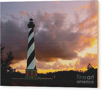Cape Hatteras Sunset Wood Print