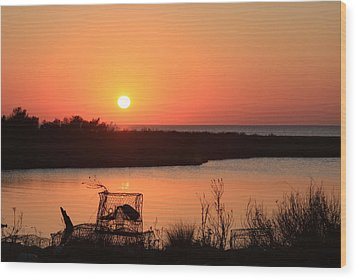 Cape Hatteras Sunset-north Carolina Wood Print by Mountains to the Sea Photo