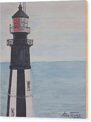 Cape Henry Lighthouse Wood Print by Stan Tenney