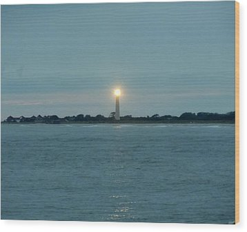 Wood Print featuring the photograph Cape May Beacon by Ed Sweeney