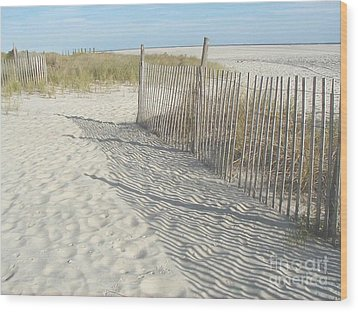 Cape May Wood Print by Bev Conover
