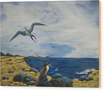 Cape May Gulls Wood Print by Susan Culver