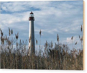 Cape May Light Wood Print by Skip Willits