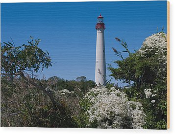 Wood Print featuring the photograph Cape May Lighthouse by Greg Graham