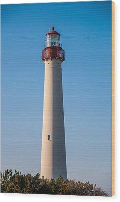 Cape May Lighthouse Wood Print by Jennifer Ancker