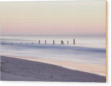 Cape May Ocean Dawn Wood Print by Tom Singleton