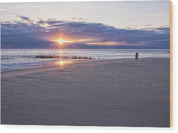 Cape May Point Winter Sunset Wood Print