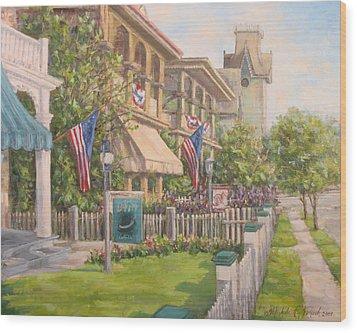 Cape May Street Scene Wood Print by Michele Tokach