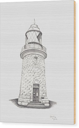 Cape Naturalist Lighthouse Wood Print by Patricia Hiltz
