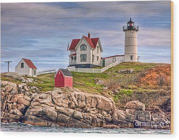 Cape Neddick Nubble Lighthouse II Wood Print by Clarence Holmes