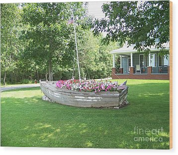 Cape Vincent Flowerboat Wood Print by Kevin Croitz