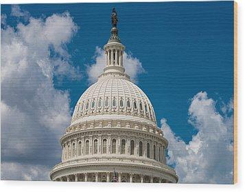 Capital Dome Washington D C Wood Print by Steve Gadomski