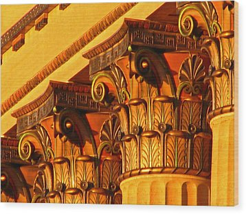 Wood Print featuring the photograph Capitals by Christopher Woods