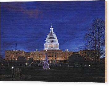 Capitol Christmas - 2013 Wood Print